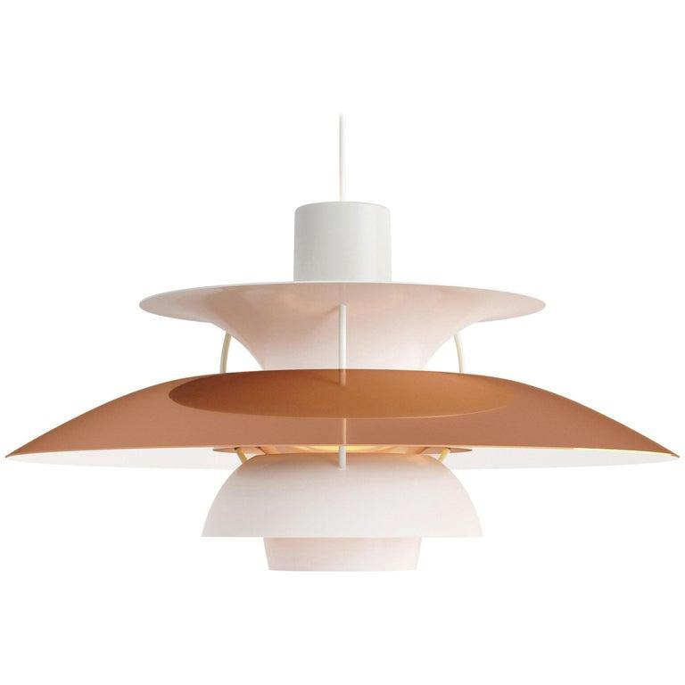 Poul Henningsen PH5 Mini Copper Pendant for Louis Poulsen For Sale
