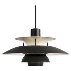 Poul Henningsen PH5 Mini Pendant for Louis Poulsen in All Black