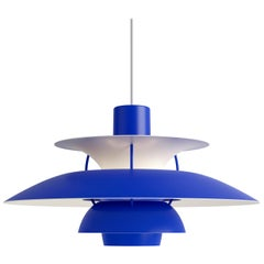 Poul Henningsen PH5 Mini Pendant for Louis Poulsen in All Blue