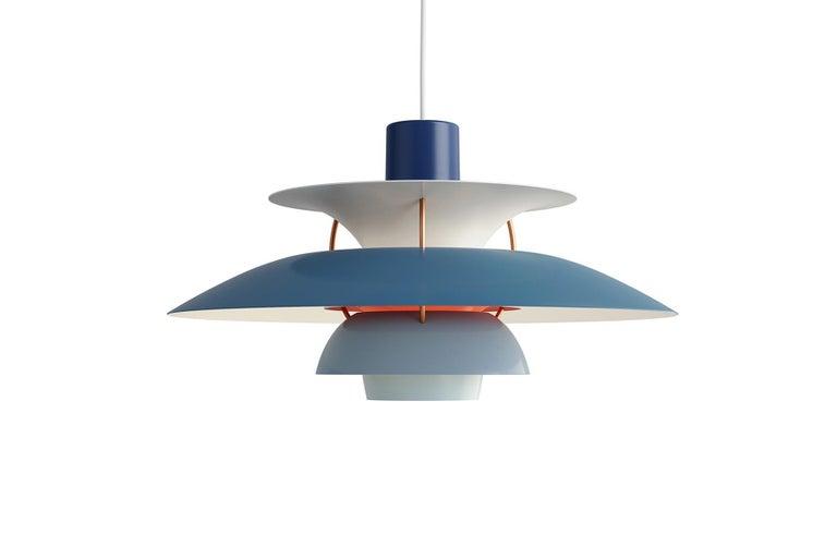 Plated Poul Henningsen Ph5 Pendant For Sale