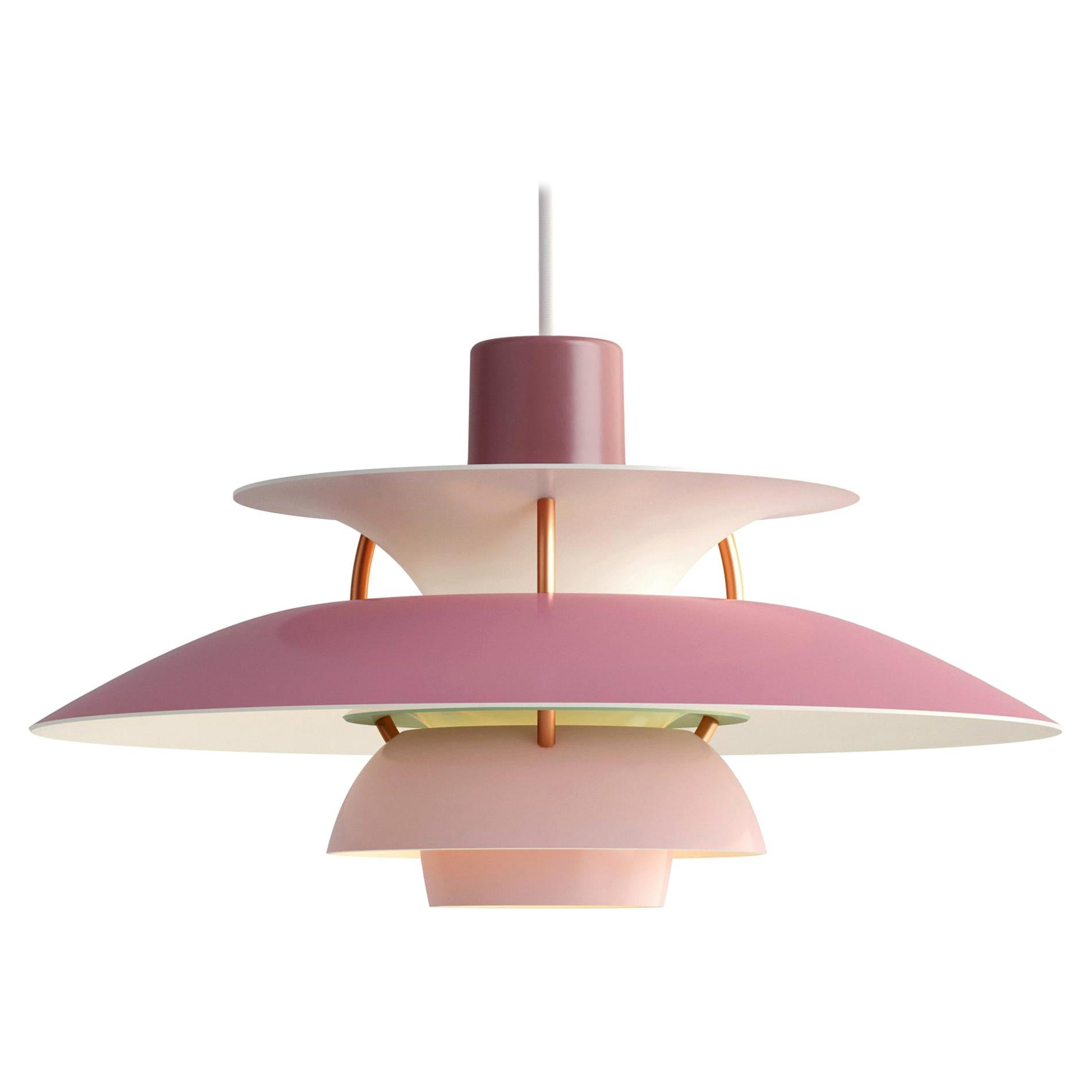 Poul Henningsen Rose PH5 Mini Pendants for Louis Poulsen