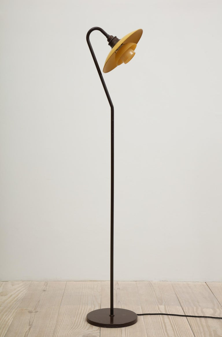 20th Century Poul Henningsen, Seven Standing Light, Stamped: PH-2 / Patented, circa 1933 For Sale