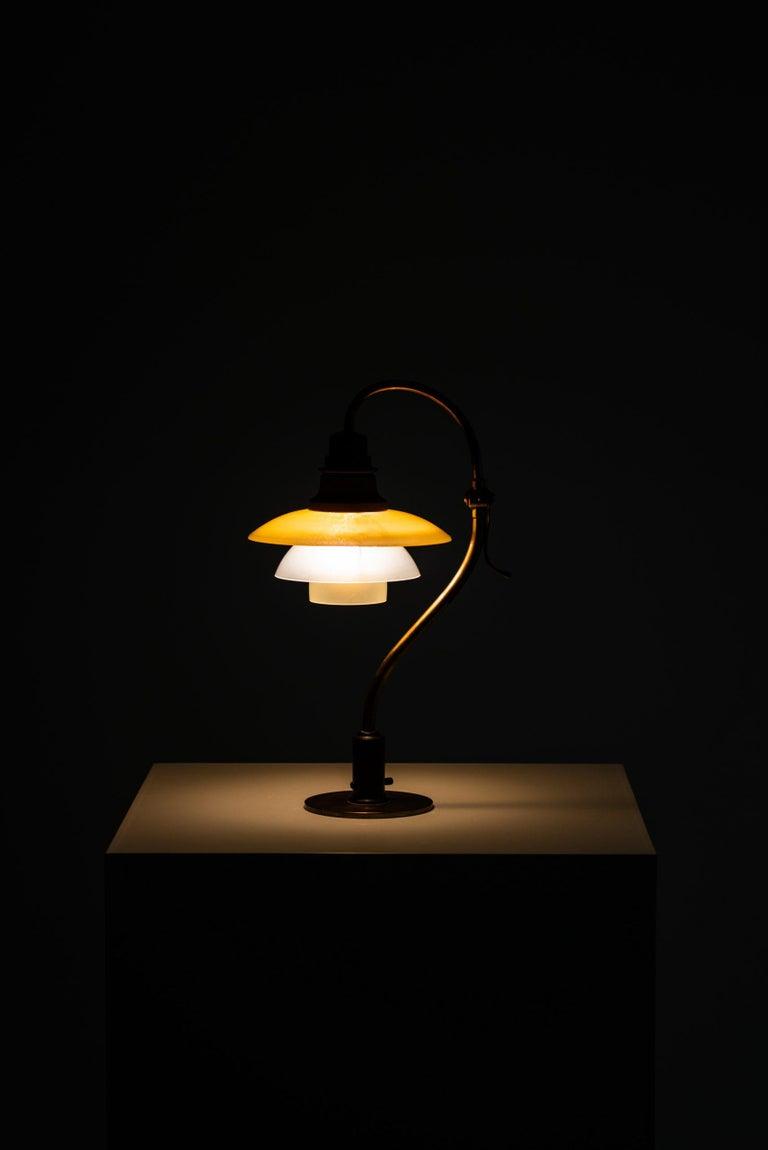 Poul Henningsen Table Lamp Model PH-2/2 Produced by Louis Poulsen in Denmark For Sale 7