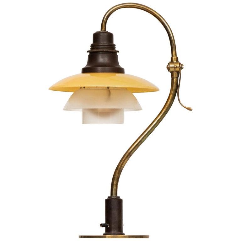 Poul Henningsen Table Lamp Model PH-2/2 Produced by Louis Poulsen in Denmark For Sale
