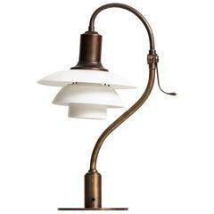 Poul Henningsen Table Lamp Model PH-2/2 'The Questions Mark' by Louis Poulsen