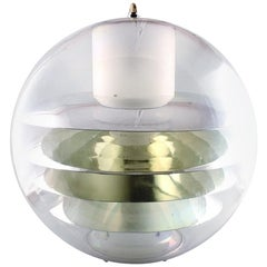 Poul Henningsen / Verner Panton Style, Large Plexiglas Ceiling Lamp