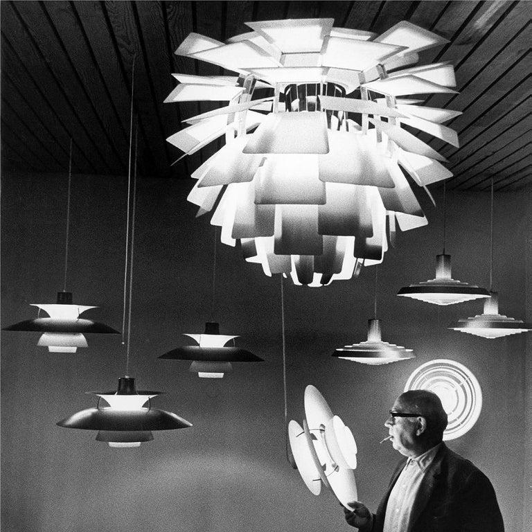 Poul Henningsen White PH Artichoke Chandelier for Louis Poulsen For Sale 4