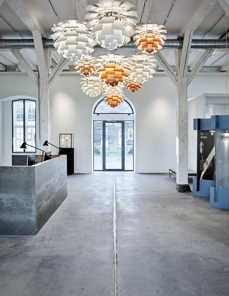 Poul Henningsen White PH Artichoke Chandelier for Louis Poulsen For Sale 7