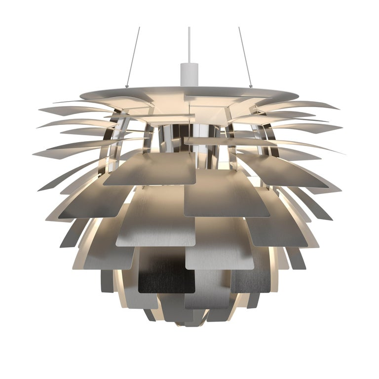 Poul Henningsen White PH Artichoke Chandelier for Louis Poulsen For Sale 9