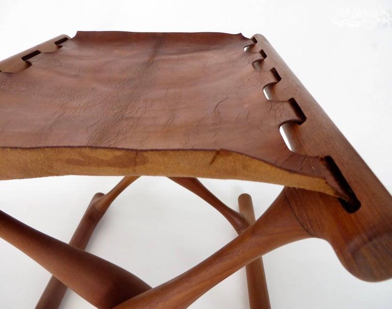 Poul Hundevad Danish Folding Stool PH 43 For Sale 8