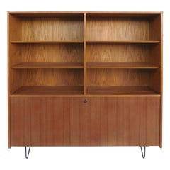 Poul Hundevad Danish Modern Secretary Wall Unit on Hairpin Legs