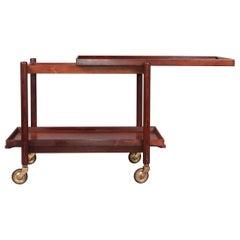 Poul Hundevad Danish Rosewood Bar Cart