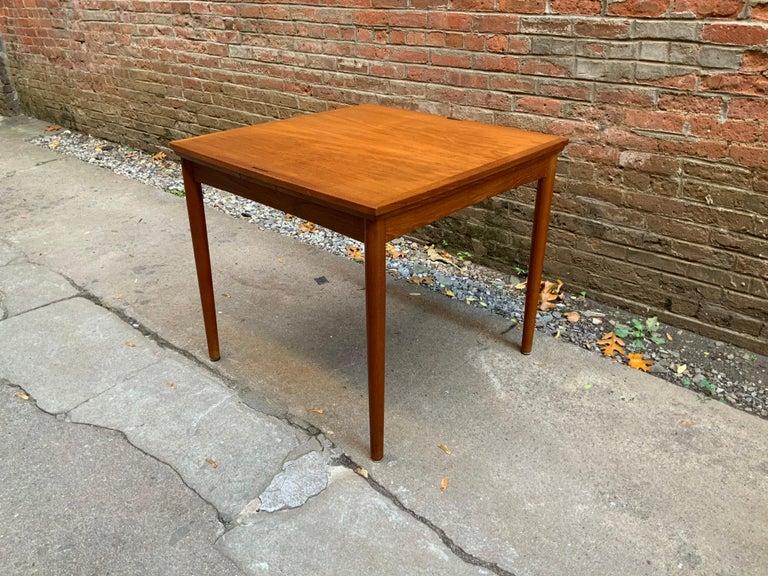 Veneer Poul Hundevad Danish Teak Extension Table For Sale