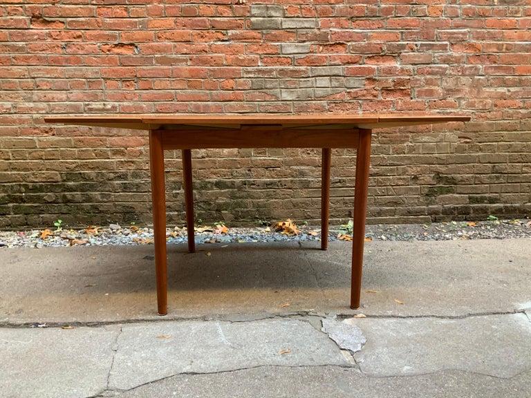 Late 20th Century Poul Hundevad Danish Teak Extension Table For Sale
