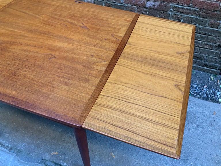 Poul Hundevad Danish Teak Extension Table For Sale 1