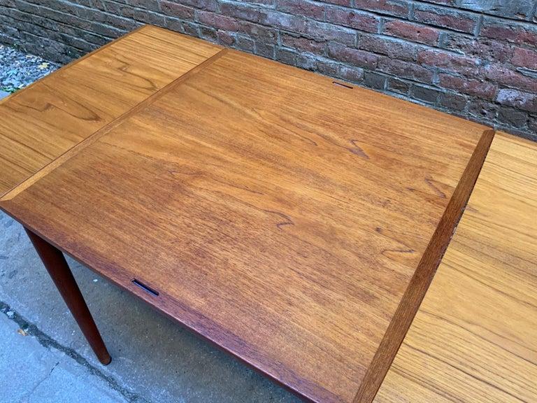 Poul Hundevad Danish Teak Extension Table For Sale 2