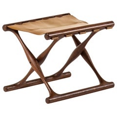 Poul Hundevad Folding Stool Produced by Poul Hundevad in Denmark