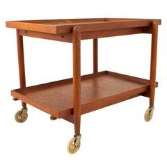 Poul Hundevad Mid Century Danish Teak Dining Bar Cart