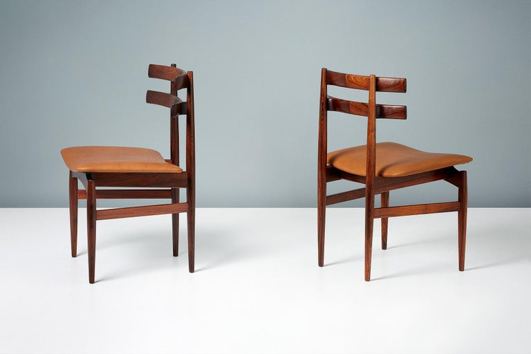 Mid-20th Century Poul Hundevad Model 30 Rosewood Dining Chairs For Sale