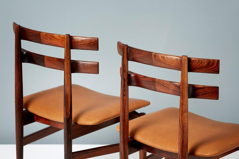 Poul Hundevad Model 30 Rosewood Dining Chairs For Sale 2