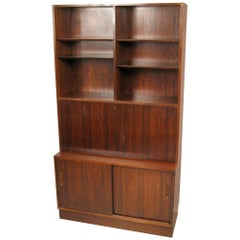 Poul Hundevad Rosewood Wall Unit Bookcase with Drop Desk