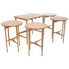 Poul Hundevad Style Mid Century Danish Teak Nesting Tables