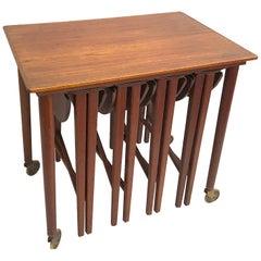 Poul Hundevad Teak Nesting Tables (5)