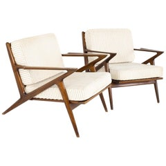 Poul Jensen for Selig Mid Century Z Lounge Chair - Pair