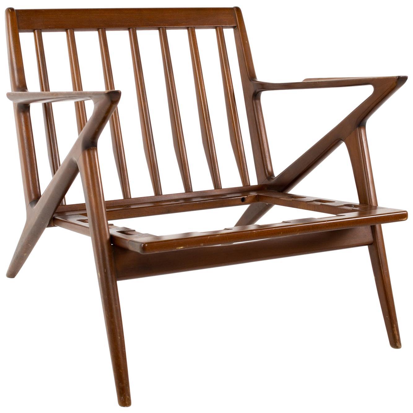 Poul Jensen for Selig Mid Century Z Lounge Chair