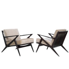 Poul Jensen for Selig 'Z' Lounge Chairs, Denmark