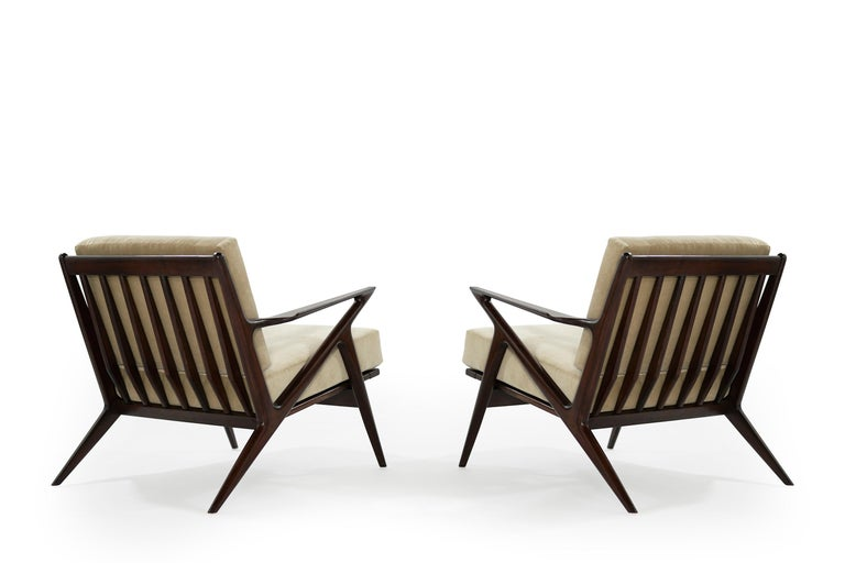 Danish Poul Jensen for Selig 'Z' Lounge Chairs, Denmark, circa 1950s For Sale