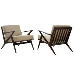 Poul Jensen for Selig 'Z' Lounge Chairs, Denmark, circa 1950s
