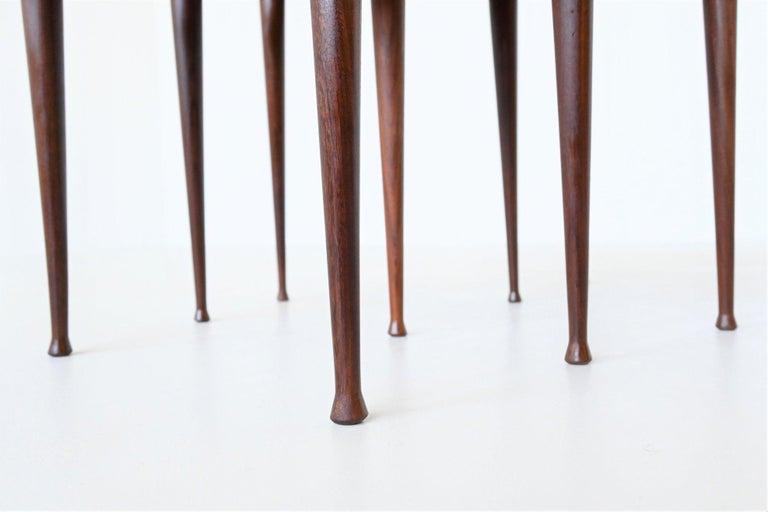 Poul Jensen Style Nesting Tables Teak Wood Denmark 1960 For Sale 4