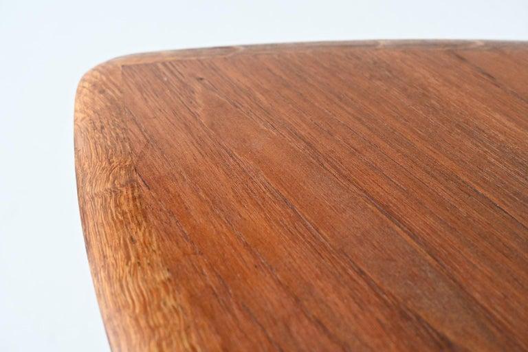 Poul Jensen Style Nesting Tables Teak Wood Denmark 1960 For Sale 7