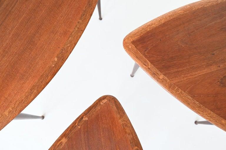 Poul Jensen Style Nesting Tables Teak Wood Denmark 1960 For Sale 10