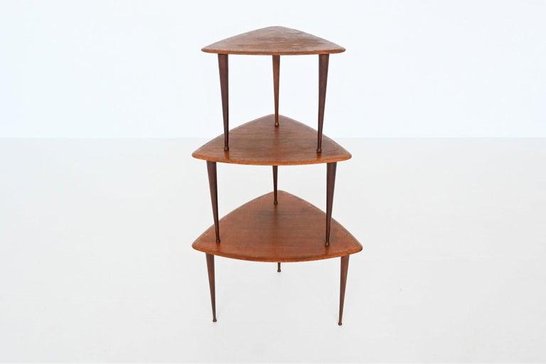 Poul Jensen Style Nesting Tables Teak Wood Denmark 1960 For Sale 3