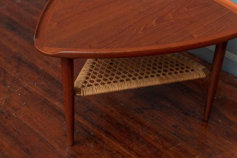 Scandinavian Modern Poul Jensen Triangle Form Table for Selig