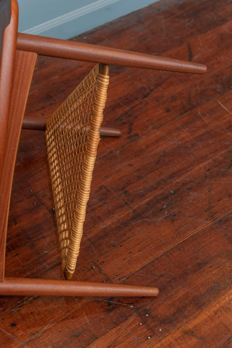 Cane Poul Jensen Triangle Form Table for Selig