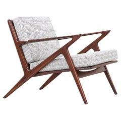 """Poul Jensen """"Z"""" Lounge Chair for Selig"""