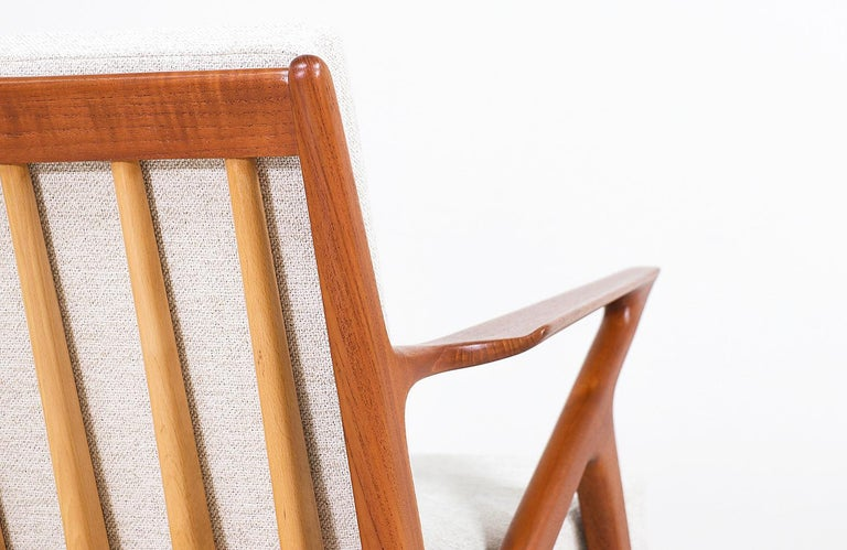 Poul Jensen Z Teak Lounge Chairs for Selig For Sale 4