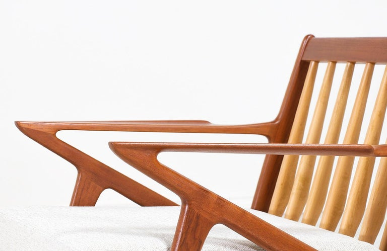 Poul Jensen Z Teak Lounge Chairs for Selig For Sale 5