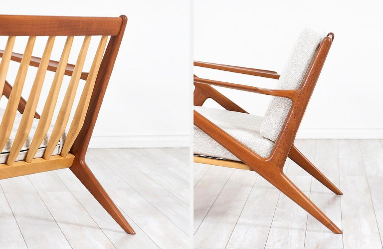 Poul Jensen Z Teak Lounge Chairs for Selig For Sale 8