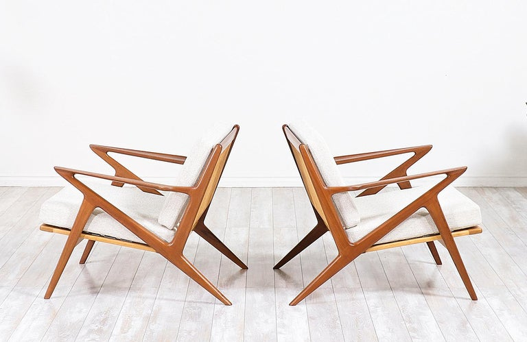 Danish Poul Jensen Z Teak Lounge Chairs for Selig For Sale