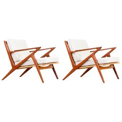 Poul Jensen Z Teak Lounge Chairs for Selig
