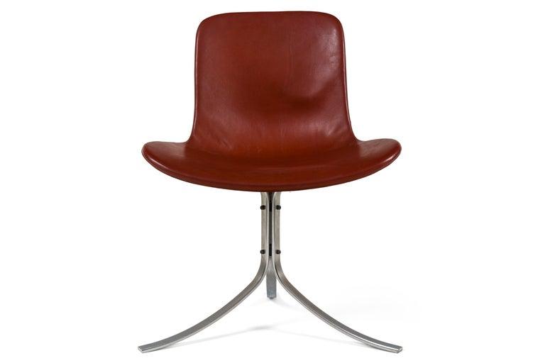 Danish Poul Kjaerholdm PK 9 Side Chairs for E. Kold Christensen, Denmark, 1961 For Sale