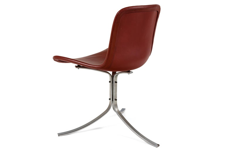 Poul Kjaerholdm PK 9 Side Chairs for E. Kold Christensen, Denmark, 1961 In Good Condition For Sale In New York, NY