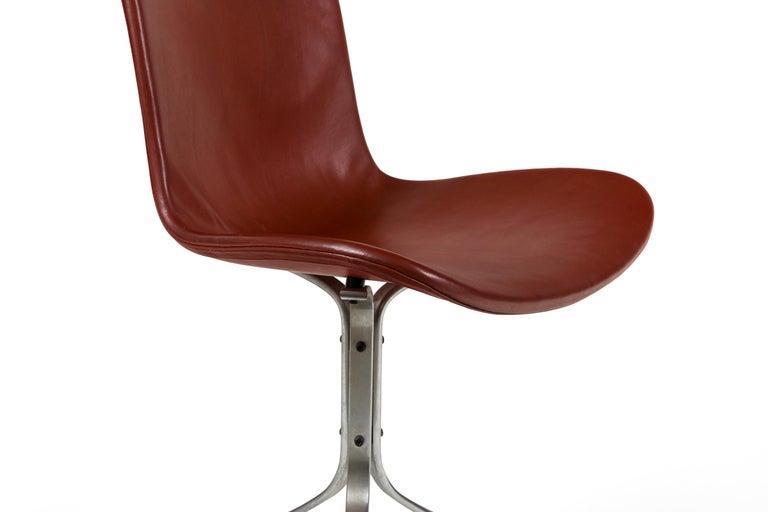 Steel Poul Kjaerholdm PK 9 Side Chairs for E. Kold Christensen, Denmark, 1961 For Sale