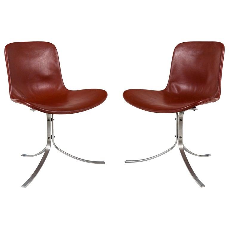 Poul Kjaerholdm PK 9 Side Chairs for E. Kold Christensen, Denmark, 1961 For Sale