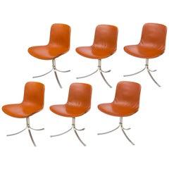 Poul Kjaerholdm PK 9 Side Chairs for E. Kold Christensen, Denmark, 1961
