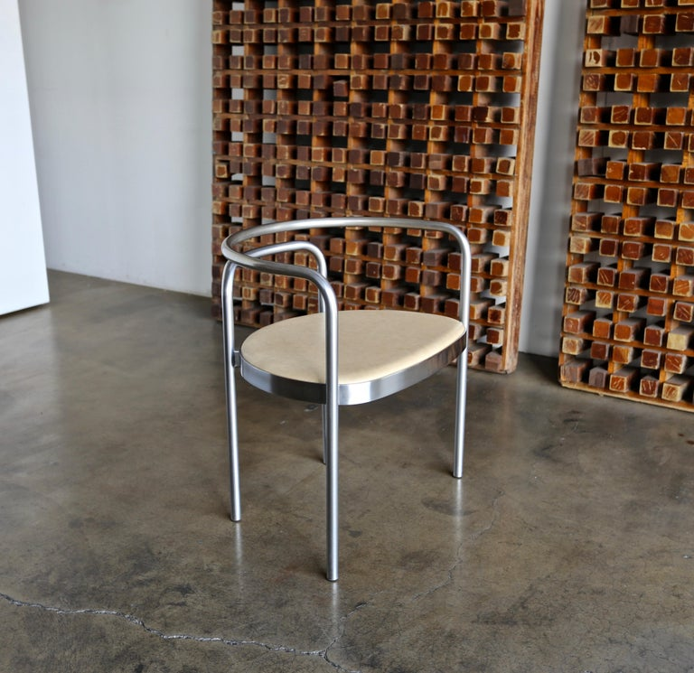 Poul Kjaerholm Armchair Model No. PK12 for E. Hold Christensen, circa 1964 In Good Condition For Sale In Costa Mesa, CA